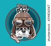 portrait of the french bulldog... | Shutterstock .eps vector #654826567