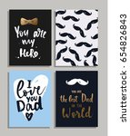 happy father's day cards and... | Shutterstock .eps vector #654826843