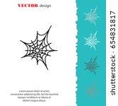 web line icon. spiderweb  web... | Shutterstock .eps vector #654831817