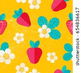 beautiful summer pattern with... | Shutterstock .eps vector #654836617