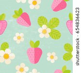 beautiful summer pattern with... | Shutterstock .eps vector #654836623