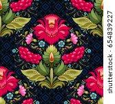 seamless dark vector background ... | Shutterstock .eps vector #654839227