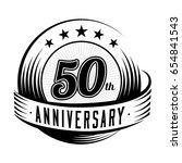 50 years anniversary design... | Shutterstock .eps vector #654841543