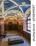Small photo of Vilnius, Lithuania - May 05, 2017: Inside the old building of Philology Faculty, in Center of lithuanistics of Vilnius University, Vilnius, Lithuania.