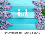 happy family of four people | Shutterstock . vector #654851647