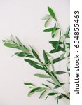 olive branches on a neutral... | Shutterstock . vector #654855463