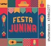 festa junina  party in june... | Shutterstock .eps vector #654861277
