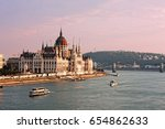 the parliament of hungary on... | Shutterstock . vector #654862633