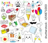 my funny doodles collection | Shutterstock .eps vector #654871003