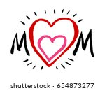 mother's day card | Shutterstock .eps vector #654873277