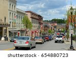 Small photo of BANGOR, ME, USA - MAY 20, 2016: Historic Blocks at Main Street in downtown Bangor, Maine, USA.