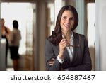 smart intelligent career... | Shutterstock . vector #654887467