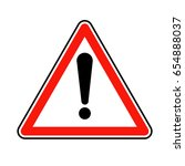 attention sign with exclamation ... | Shutterstock .eps vector #654888037
