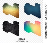 set of polygonal map   low poly ...   Shutterstock .eps vector #654889777