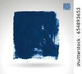 blue brush stroke and texture.... | Shutterstock .eps vector #654893653