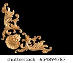 gold ornament on a black...   Shutterstock . vector #654894787