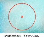 illustration of red circle on... | Shutterstock . vector #654900307