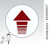 arrow indicates the direction ... | Shutterstock .eps vector #654905017