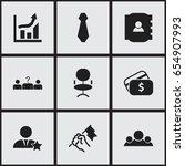 set of 9 editable job icons....