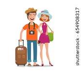 travel  journey  honeymoon trip ... | Shutterstock .eps vector #654908317