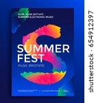 summer festival electronic... | Shutterstock .eps vector #654912397