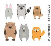 collection of cute cartoon