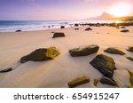 romantic atmosphere in peaceful ... | Shutterstock . vector #654915247