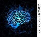 brain neurons activity ... | Shutterstock .eps vector #654918793