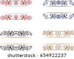 set of hand drawn decorative... | Shutterstock .eps vector #654922237