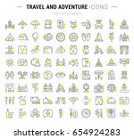 set vector line icons  sign and ... | Shutterstock .eps vector #654924283