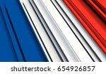 fragment flag of france. 3d...   Shutterstock . vector #654926857