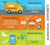 postal delivery banner... | Shutterstock .eps vector #654928873