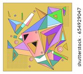 vector of triangle geometric 3d ... | Shutterstock .eps vector #654929047