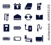 charger icons set. set of 16...   Shutterstock .eps vector #654931153