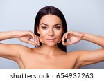 beauty and health concept.... | Shutterstock . vector #654932263