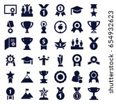 achievement icons set. set of... | Shutterstock .eps vector #654932623