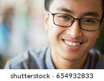 closeup portrait of happy young ... | Shutterstock . vector #654932833