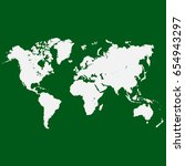 world map vector. | Shutterstock .eps vector #654943297