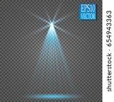 vector light sources  concert... | Shutterstock .eps vector #654943363