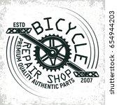 vintage bicycles repair shop...   Shutterstock .eps vector #654944203