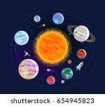 astronomy  space  astrology... | Shutterstock .eps vector #654945823