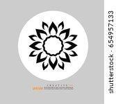 flower icon.vector illustration. | Shutterstock .eps vector #654957133