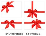 collection of red bows with... | Shutterstock .eps vector #65495818