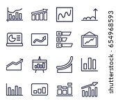 statistic icons set. set of 16... | Shutterstock .eps vector #654968593