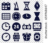 time icons set. set of 16 time... | Shutterstock .eps vector #654968647