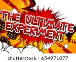 the ultimate experiment   comic ... | Shutterstock .eps vector #654971077