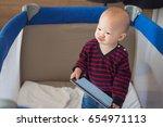 cute asian toddler baby boy...   Shutterstock . vector #654971113