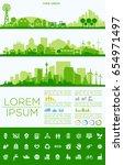 city skyline illustration | Shutterstock .eps vector #654971497