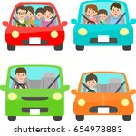 cars and people | Shutterstock .eps vector #654978883
