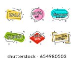 promo banner geometric vector... | Shutterstock .eps vector #654980503